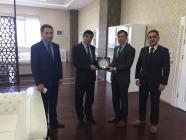 İl Özel İdaresi Genel Sekreteri Ferhat Akkuş Rektör Alma'yı ziyaret etti