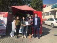 Eğitim-Bir-Sen Iğdır şubesi, Iğdır iline atanan Öğretmenleri çiçeklerle ve hediyelerle karşıladı.