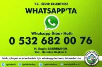 Vali/Başkan'ın Talimatıyla Whatsapp Hattı Kuruldu