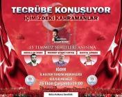 15 Temmuz Demokrasi Kahramanları 26 Ekim'de Iğdır'da
