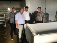 Rektör Alma Süt Ürünleri  Tesisinde İncelemede Bulundu