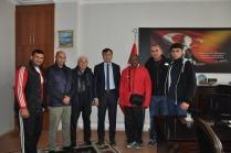 Milli boksörler ve Hakemlerden Genel Sekreter Ferhat Akkuş'a ziyaret
