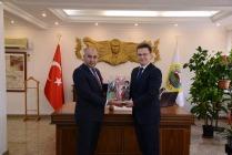 AZERBAYCAN KARS BAŞKONSOLOSU VALİ ENVER ÜNLÜYÜ  ZİYARET ETTİ