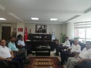 Iğdır Üniversitesi Rektörü Prof. Dr. Mehmet Hakkı Alma'dan Mustafa Tekin'e hayırlı olsun ziyareti