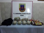 Jandarma'dan Uyuşturucu Kaçakcısına Darbe..