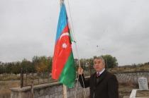 TAŞBURUN'DA BULUNAN KERBELAYI İSMAİL  ANITINDAKİ AZERBAYCAN BAYRAĞI DEĞİŞTİRİLDİ