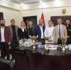 Halk Eğitim Folklor Ekibinden Belediye Başkanına Ziyaret
