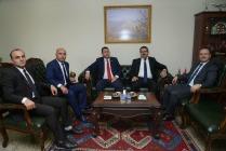 AZERBAYCAN ANKARA BÜYÜKELÇİSİ HAZAR İBRAHİM VALİ ÜNLÜ'YÜ ZİYARET ETTİ