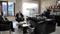 İL MÜDÜRÜ  ÖZKAN YOLCU  İŞ İNSANI ALİRIZA  ARSLANTÜRK'Ü ZİYARET ETTİ