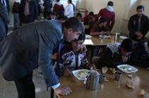Iğdır'da  Taşımalı öğrencilere Ücretsiz Yemek Projesi