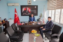 Rektör Alma, Karakoyunlu İlçe Belediye Başkanı Kurban Kaya'ya İade-i Ziyarette Bulundu