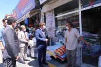 """Vali/Belediye Başkan V. H. Engin Sarıibrahim""""  Sokakta Vatandaşlara Uyarılarda Bulundu"""