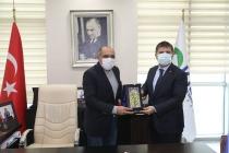 Vali Sarıibrahim Ticaret Odası Başkanı Arslan'ı Ziyaret Etti