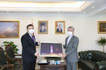 İran İslam Cumhuriyeti Erzurum Başkonsolosu Sajjad Soltanzadeh Vali/Belediye Başkan V. H. Engin Sarıibrahim'i Ziyaret Etti