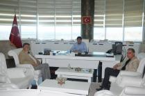 Ağrı Dağı Gazeteciler Cemiyeti Başkanı Cevdet Baycan ve Gazeteciler Cemiyeti Üyesi