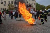 İtfaiye Tarafından Yangın Eğitimi ve Tatbikatı Yapıldı