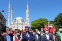 İsrail'in Mescid-i Aksa saldırıları Iğdır'da protesto edildi
