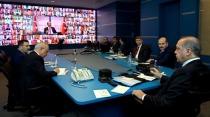 Cumhurbaşkanı Erdoğan, 81 il valisiyle telekonferansla görüştü