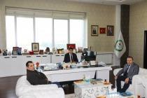 Doğubeyazıt Devlet Hastanesi Başhekimi Hasan Balaban'dan Rektör Alma'ya Nezaket Ziyareti