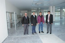 Rektör Alma, Üniversite Alt Yapı Çalışmaları ve Mediko-Sosyal Binasında İncelemelerde Bulundu