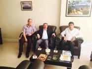 Rektör Alma ve Ağrı İbrahim Çeçen Üniversitesi Rektörü Prof. Dr. Abdülhalik Karabulut, Ankara Kızılay'da Bulunan Ağrı Kültür Dernekleri Federasyonu'nu Ziyaret Ettiler