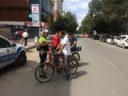 Iğdır'da Bisiklet Sürücülerine Denetim