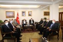 Vali/Emniyet Genel Müdürü  Mehmet Aktaş'tan  Vali/Belediye Başkan V.  H. Engin Sarıibrahim'e Ziyaret