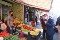 Vali/Belediye Başkanı Sarıibrahim, Kovid-19 denetimine katıldı