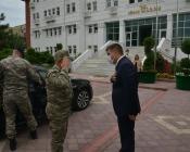 Tuğgeneral Yücel Özel Vali/Belediye Başkan V. H. Engin Sarıibrahim'e  Hayırlı Olsun Ziyaretinde Bulundu