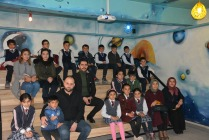 Köy Çocuklarının sinema keyfi