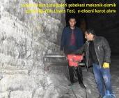 Tuzluca Kaya Tuzu Galeri Şebekesinin Mekanik-Sismik Güvenliği İnceleniyor