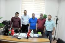 Iğdır Gazeteciler Cemiyeti ve İletişim Derneği Başkan Yardımcısı  Serdar Ünsal Kurban Parlar'ı ziyaret etti