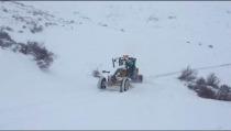 İl Özel İdaresi kar ile mücadele çalışmaları devam ediyor