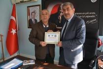 TADDEF'DEN AZERBAYCAN TÜRKİYE KARDEŞLİĞİNE DESTEK VEREN  BELEDİYE BAŞKANI BAYRAM ALİ BALLI'YA TEŞEKKÜR BELGESİ