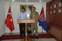 Rektör Alma, İl Jandarma Alay Komutanı Kurmay Albay Kahraman Dikmen'i ziyaret etti
