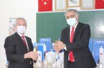 1000 Okul Projesi kapsamında    dezenfektan ve kolonya üretiliyor.