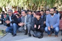 Iğdır'da KESK ve DİSK bileşenleri katliamı protesto etti