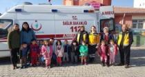 Karakoyunlu anaokulu öğrencileri sağlık çalışanları ile buluştu.