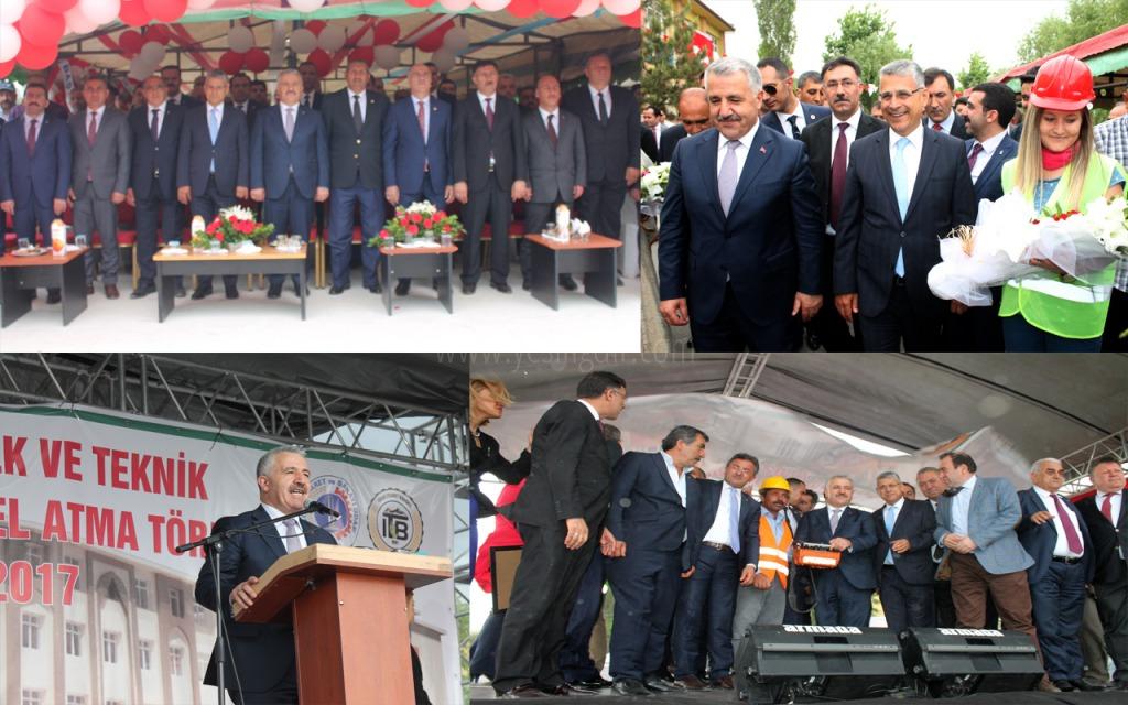 Bakan Arslan Temel Atma Törenine Katıldı