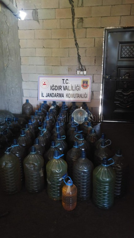 1.024 Litre Kaçak Akaryakıt Ele Geçirildi