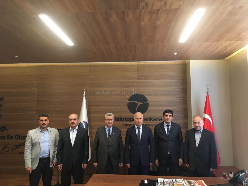 Rektör Alma,   Ankara Teknopark'da İncelemelerde Bulundu