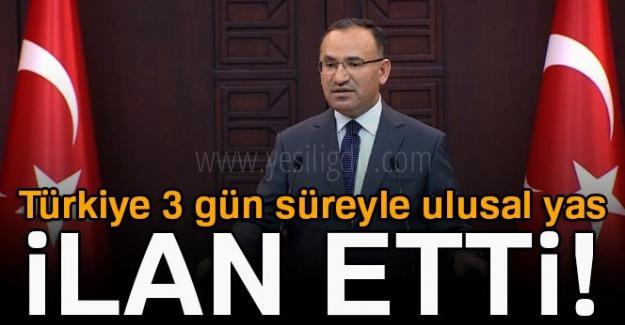 Türkiye, Kudüs için 3 günlük yas ilan etti