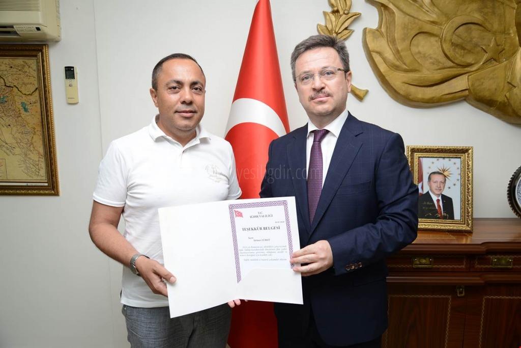 HAYIRSEVER İŞ ADAMI VALİ ÜNLÜ'YÜ ZİYARET ETTİ