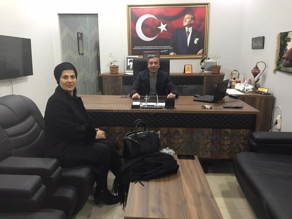 İŞ İNSANI HACER ÖZBEY'  OSMAN TOKAYI ZİYARET ETTİ