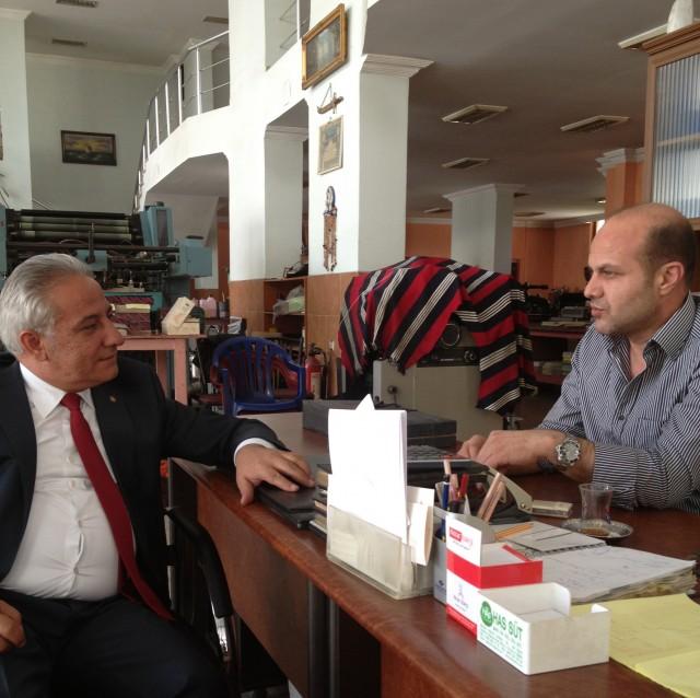 İş Bankası Müdürü İbrahim Silgan'dan Gazetemize Ziyaret