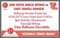 MHP Büyük Diriliş Mitingi ve Cavit Tebrizli Konseri