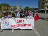Iğdır'da Olimpik Gün Yürüyüşü