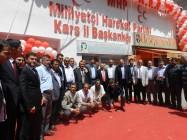MHP Iğdır Milletvekili Dr. Sinan OĞAN, MHP Kars İl Başkanlığı'nın Yenilenen Binasını Açtı