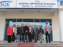 Yabancı Heyet Iğdır SGK'yı Ziyaret Etti