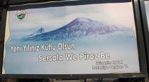 Iğdır'da 2 Dilde Yeni Yıl Kutlama Mesajı